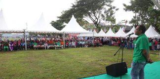 Wali Kota Makassar, Muhammad Ramdhan Pomanto saat sambutan pada acara Pengumuman pemenang lomba lorong atau akrab di sebut Sombere' & Smart Lorong (SSL) 2019. (ist)