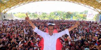 Capres petahana Joko Widodo saat berkampanye di Bandung beberapa waktu yang lalu. (Foto: Instagram/Jokowiamin)