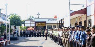 Polres Gowa Lakukan Apel Gelar Pasukan bersama 295 personil Gabungan.