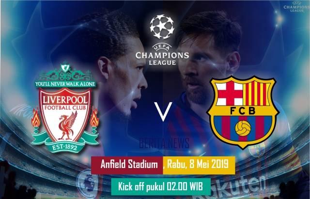 Ilustrasi Liverpool Vs Barcelona. (BERITA.NEWS)