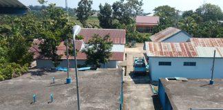 Kondisi pengolahan Instalasi Kota Kecamatan (IKK) Barombong yang sedang dalam perbaikan