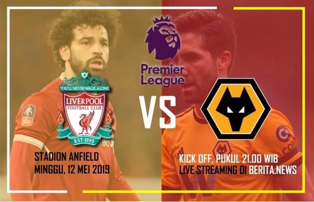 Ilustrasi Liverpool Vs Wolverhampton Wanderers. (BERITA.NEWS)