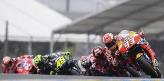 Pembalap Repsol Honda, Marc Marquez, memimpin balapan MotoGP Prancis di Sirkuit Le Mans, Minggu (19/5/2019). (Foto: Official MotoGP)