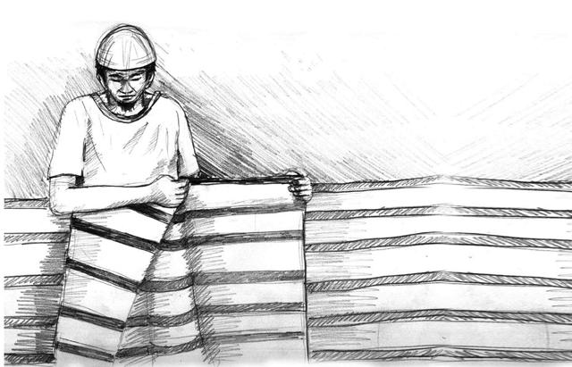 Ilustrasi lelaki memakai sarung sutera (int)