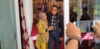 Gubernur Sulsel Nurdin Abdullah dan Istri Liestyati F Nurdin