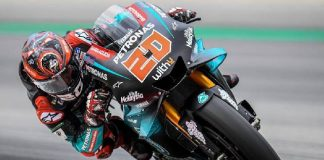 Pembalap Yamaha Petronas, Fabio Quartararo menjadi yang tercepat pada sesi latihan bebas kedua MotoGP Catalunya Spanyol, Jumat (14/6/2019). (Foto: MotoGP)