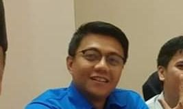 Pengurus KNPI Bontoala, Ahmad Razak, Sabtu (1/5/2019).