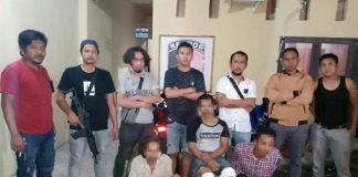 Ketiga terduga pelaku pencurian ternak saat diringkus tim T4P Polres Bantaeng