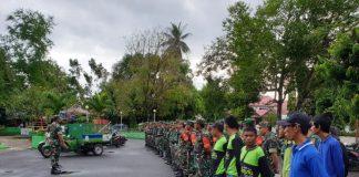 Apel gabungan TNI dan Dinas Lingkungan Hidup dan Pertanahan di Alun-alun lapangan Makkatang Daeng Sibali, Kamis (13/6/2019).