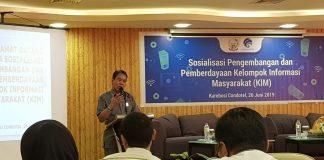 Kepala Dinas Kominfo Provinsi Sulsel, ir H Andi Hasdullah, MSi saat memberi sambutan