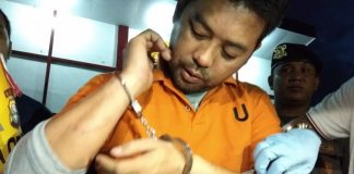 Wahyu Jayadi alias WJ tersangka pembunuhan yang menewaskan rekan kerjanya Siti Zulaeha Djafar Staf di Universitas Negeri Makassar (UNM).