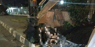 Mayat yang ditemukan disaluran air Jalan Urip Sumoharjo Kota Makassar