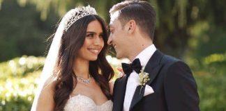 Pernikahan Amine Gulse dengan Mesut Ozil, di Istanbul, Turki, Jumat (7/6/2019). (Foto: Twitter/MesutOzil1088)