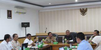 suasana rapat proses penyerahan PSU di Aula Baruga Adhyaksa Kejari Makassar. (Berita.news/Ratih Sardianti Rosi).