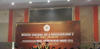 Wisuda Sarjana XIII dan Pascasarja V STIE Nobel di Hotel Claro Makassar, (Berita.news/Ratih Sardianti Rosi).