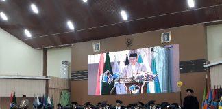 Perayaaan Milad UMI ke-65 di auditorium AL-Jibra Kampus II UMI, Minggu (23/6/19).(Berita.news/Ratih Sardianti Rosi)