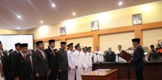 Bupati Bantaeng ambil sumpah 50 pejabat, (Berita.new/Fitriani Aulia Rizka)