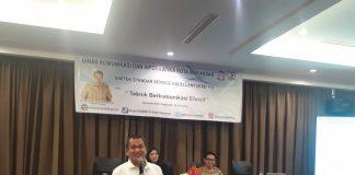 Bimbingan teknis pemateri oleh Dr. Akbar di Hotel Ramedo Makassar, Selasa (30/7/2019). (BERITA.NEWS/Ratih Sardianti Rosi).