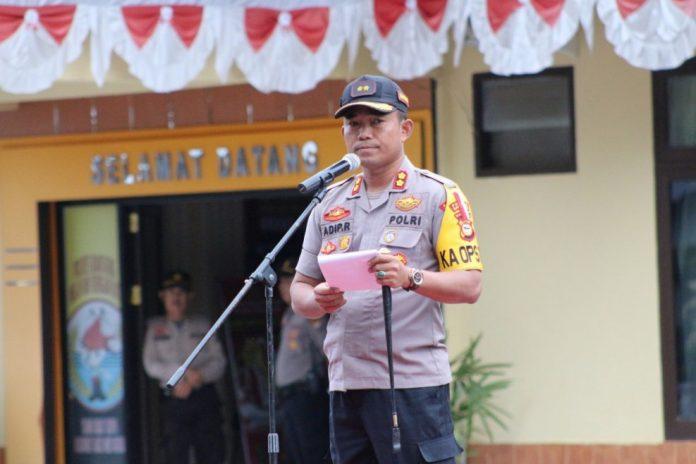 Kapolres saat memberi sambutan. (Berita.news/Fitriani Aulia Rizka).