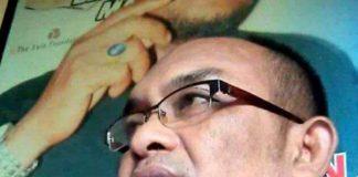 Djusman AR saat ditemui disalah satu warkop di Makassar. (Berita.news/Abdul Kadir).