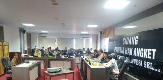 Kesaksian Mantan Sekretaris BKD Sulsel Lubis dihadapan Pansus Hak Angket Dewan. (Berita.news/KH).