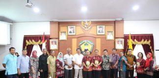Sekda Gowa bersama Rombongan Anggota Komisi C DPRD Kabupaten Jepara, Provinsi Jawa Tengah saat mengunjungi Kabupaten Gowa. (Berita.news/ACP).