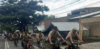 Kodim 1411 Bulukumba Gelar Giat sepeda santai Bersama personil yang pimpin langsung dandim 1411 Bulukumba Letkol Arm Joko Triyanto. (Berita.news/IL).