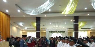 Bupati Gowa, Adnan Purichta Ichsan melantik 21 Kepala Desa se-Kabupaten yang terpilih pada pemilihan kepala desa beberapa waktu lalu. (Berita.news/ACP).
