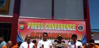 Press Conference uppengungkapan kasus penyalahgunaan Narkotika jenis Sabu sela sepekan. (Berita.news/ACP)