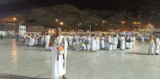 CJHI Asal Bulukumba berkumpul di Bukit Marwah lalu melakukan doa bersama, dipimpin oleh TPIHI dan TPHD. (Berita.news).
