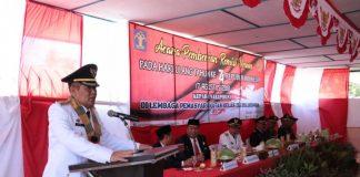 Bupati Bulukumba Membacakan sambutan Menteri MenkumHam Republik Indonesia. (BERITA.NEWS/IL).