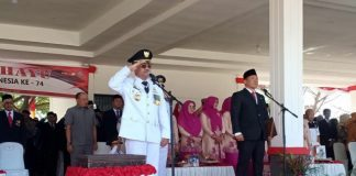 Suasana peringatan proklamasi Republik Indonesia ke 74 di lapangan Passamaturukang, Kabupaten Jeneponto. (BERITA.NEWS/Ilham).