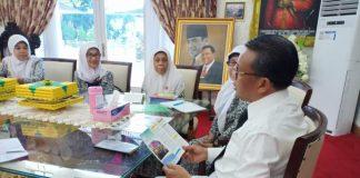 PDIBI Sulsel Temui Gubernur Sulsel Nurdin Abdullah. (BERITA.NEWS/KH).