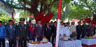Upacara pemberian remisi kepada warga binaan rutan kela II B kabupaten Jeneponto. (BERITA.NEWS/Ilham).