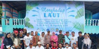 Gerakan Menghadap laut 2.0, bersihkan sampah plastik di pantai Kaloko, Desa Pao, Kecamatan Tarowang, Kabupaten Jeneponto, Sulawesi Selatan. (BERITA.NEWS/Ilham).