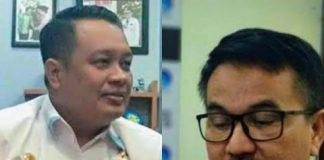 Kepala Bappeda Sulsel Jufri Rahman dan Mantan Kepala Biro Umum dan Perlengkapan Setda Sulsel Muhammad Hatta. (BERITA.NEWS/KH).