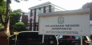 Gedung Kantor Kejaksaan Negeri Jeneponto. (BERITA.NEWS/Ilham).