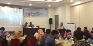 Sausana pembinaan dan pengembangan startup dan pengelolaan Makassar Teknopark di Hotel Grand Tulip Essential, Kamis (22/8/19).(BERITA.NEWS/Ratih Sardianti Rosi).