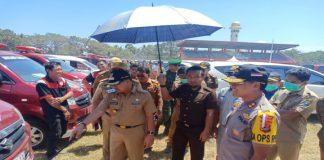 Pengecekan kondisi kendaraan dinas lingkup Jeneponto di stadion mini Turatea. (BERITA.NEWS/Ilham).