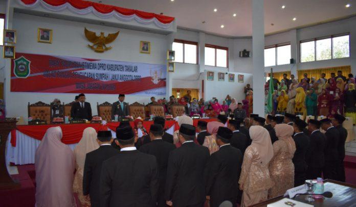 Suasana Pelantikan anggota Dewan periode 2019-2024. (BERITA.NEWS/Abdul Kadir).