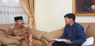 Ketua Umum Komunitas Peduli Gowa, Muhammad Hidayatullah saat melakukan audiens di Rumah Jabatan Wakil Bupati Gowa, Abd Rauf Malaganni. (BERITA.NEWS/ACP).