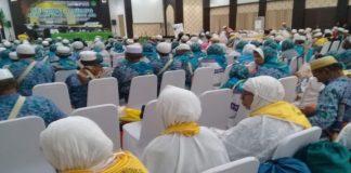 Jama'ah Haji Kloter 14 Debarkasi Makassar. (BERITA.NEWS/KH).