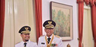 Gubernur dan Wakil Gubernur Sulsel, Nurdin Abdullah-Andi Sudirman Sulaiman