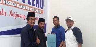 H. Muh Tamrin (kedua dari kiri) saat mendaftar di Sekretariat NasDem Bulukumba pada Pilkada serentak 2020 mendatang.