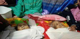 Daeng Se're dan Daeng Sali, warga asal Dusun Jonjo, Desa Jonjo, Kecamatan Parigi, Kebupaten Gowa yang meninggal di hari yang sama. (BERITA.NEWS/ACP).