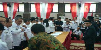 MOU Ombudsman dengan Pemprov dan 24 Kabupaten Kota. (BERITA.NEWS/KH).