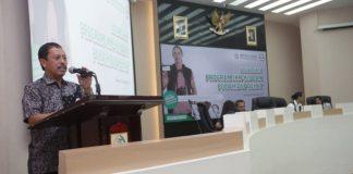 Sekda Kota Makassar Muh Ansar membuka sosialisasi BPJS di Ruang Pola Balaikota Makassar, Kamis (5/9/2019). (BERITA.NEWS/Ratih Sardianti Rosi).