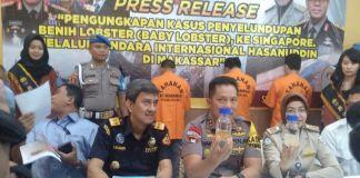 Press Conference Kapolda Sulsel Irjen Pol Hamidin di ruang Loby Mapolda. (BERITA.NEWS/Abdul Kadir).