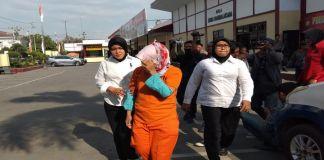 Tersangka pembunuhan nenek Nurlaela, FN di tetapkan sebagai tersangka oleh penyidik Polres Gowa.(BERITA.NEWS/ACP).
