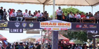Bupati Gowa, Abd Rauf Malaganni membuka Kejurnas Drag Bike Bupati Gowa Cup jilid II putaran 8, regional V dan VI meliputi wilayah Sulawesi Maluku, dan Papua, di Sirkuit Pattallassang. (BERITA.NEWS/ACP).